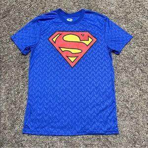 Superman DC T-Shirt Dry Wicking Logo Hologram